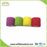 Fasciatura flessibile coesiva/autoadesiva del cotone non tessuto libero del lattice