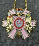 Медаль отрезанное высоким качеством вне античное латунное