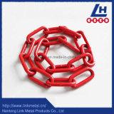 Rote Link-Kette des Plastiküberzug-G80
