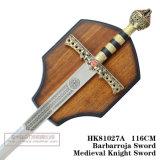 Espadas medievais da decoração das espadas das espadas espanholas 116cm HK81027A