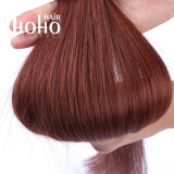 De Getrokken Rode Kleur van de Groothandelsprijs Dubbel het Micro- van 20 Duim Menselijke Haar van de Lijn
