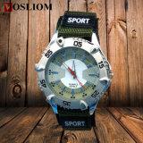[فس-613] [سبورتس] أسلوب عسكريّة ساعة مزدوجة شريط نيلون حزام سير رياضة ساعة لأنّ فتى وبنات