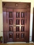 2018年の工場は直接供給する別荘の鋼鉄機密保護のドア、鉄の金属のドア(EF-V68)を