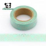 Hoja de oro de encargo de la cinta de Washi de la impresión de las ventas del diamante caliente del hexágono