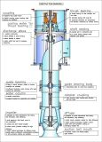 Bomba de água misturada do mar do Volute vertical