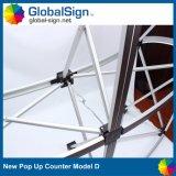 Promotion de la courbe de gros Pop up Stand Portable Compteur de table