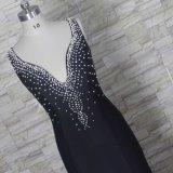 Мать Mermaid перл платьев партии Spandex Beaded мантий Z3036 вечера невесты