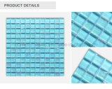 La tuile en verre d'onde bleue de mosaïque de taille de feuille pour la piscine couvre de tuiles la mosaïque en verre