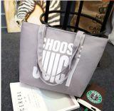 Saco de Tote da bolsa do saco de ombro das mulheres da lona da impressão das letras
