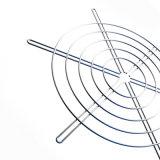 溶接金属のファン監視、金属のグリル、120mm