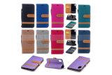 iPhone x аргументы за мобильного телефона PU бумажника гнезда для платы кожаный 8 8 плюс 7 6 Samsung замечает край 8 S8