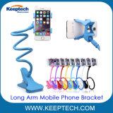 Largo brazo flexible soporte para el soporte de teléfono móvil celular