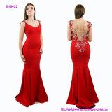 Applique magnífico del cordón en el vestido de noche sin mangas posterior e Hip de la sirena