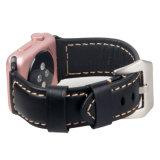 Intelligentes Uhrenarmband-glattes ledernes Luxuxoberflächenband für Iwatch