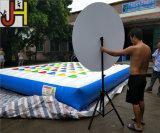 Cuaomized im Freien 5X5m Kurbelgehäuse-Belüftungaufblasbares Twister-Spiel für Verkauf