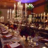 شفّافة أكريليكيّ بلّوريّة عرس طاولة جزء أساسيّ [كندلهولدر] شمعدان زهرة حامل قفص عرس عمود