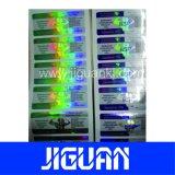 Las ventas en caliente de alta calidad farmacéutica baratos holograma etiqueta Vial de papel