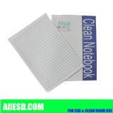 Livro antiestático com papel da sala de limpeza
