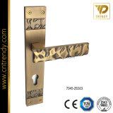 Meubles en alliage de zinc la poignée de verrouillage de mortaise de porte sur la plaque (7039-Z6289)