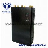 6 emittente di disturbo selettiva del segnale del telefono di GPS Lojack 4G Lte del Portable dell'antenna
