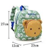 Mini mochilas Bp820 del jardín de la infancia del bolso de libro del niño del bebé de los cabritos de escuela de los bolsos del conejo del oso de las muñecas del Applique del morral lindo encantador de la lona