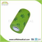 Cintagem de EFP estéril coesa elástica adesiva Veterinário Médico bandagem de impressão
