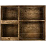 가구 12 슬롯을%s 가진 고대 브라운 나무로 되는 벽 선반