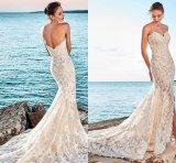 Mermaid robe de mariée robe de mariée de fractionnement de la taille de la Dentelle W15247