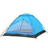 Tente de personne de la vente en gros 2, tente verte de bas de PE de tente campante de polyester de couche unitaire