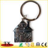 Подгонянная цепь сплава цинка металла формы дома ключевая