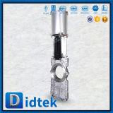 압축 공기를 넣은을%s 가진 도관 칼 게이트 밸브를 통해서 Didtek