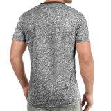 Venda por grosso de fábrica dos homens Slim Fit Casual cor sólida T-shirt de alta qualidade