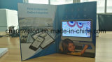 """두꺼운 표지의 책 5 """" LCD 브로셔 사업 매매 영상 우송자 카드"""