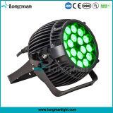 屋外18PCS 10W RGBW 4in1 LEDの段階の照明同価
