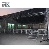 キャットウォークのためのRkの携帯用アルミニウム段階のガラス段階かコンサートまたはイベント