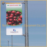 Luz de rua de metal pólo bandeira de publicidade do sistema de tensão (BT67)