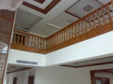 Sapele Teakholz-festes Holz-Treppenhaus für Geländer