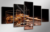 HD напечатало холстину изображения плаката печати декора комнаты печати холстины картины сигары неподвижного вина