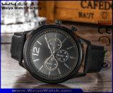주문 가죽끈 형식 숙녀 석영 고전적인 손목 시계 (WY-P17012B)