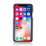 Cajas de cuero de lujo del teléfono de la textura del lichí de la manera para el iPhone X