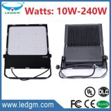 UL Dlc 주거 Meanwell 운전사 10W/20W/30W/50W/70W/80W/100W/150W/200W/240W IP65 LED SMD 플러드 빛