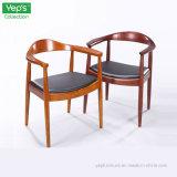 안락 의자 대통령을 식사하는 Cafe Chair 단단한 나무 PU 가죽 방석