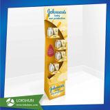 Supermercado Pantalla corrugado estante, Repisa Pantalla Piso Publicidad