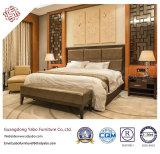 Chinesische Art-Hotel-Möbel mit den hölzernen Schlafzimmer-Möbeln eingestellt (F-3-1)