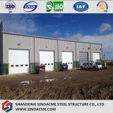 Estrutura de aço pré-fabricados com parapeito de armazém