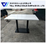 Таблица Approved белой твердой поверхностной круглой таблицы кафа SGS/ISO9001 обедая
