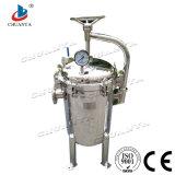 Aço inoxidável Industrial polido de filtração de água da caixa do cartucho do filtro de mangas múltiplos