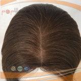 Peruca judaica do cabelo humano da cor de Brown (PPG-l-0780)
