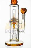 A tubulação de água de fumo de vidro popular