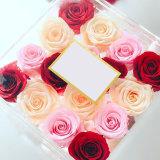 절묘한 포장 플렉시 유리 선물 꽃 상자